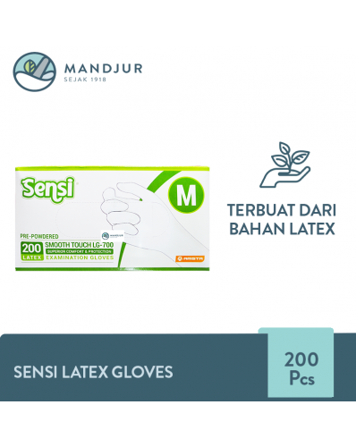 Sensi Latex Examination Gloves (Sarung Tangan Karet) Size M