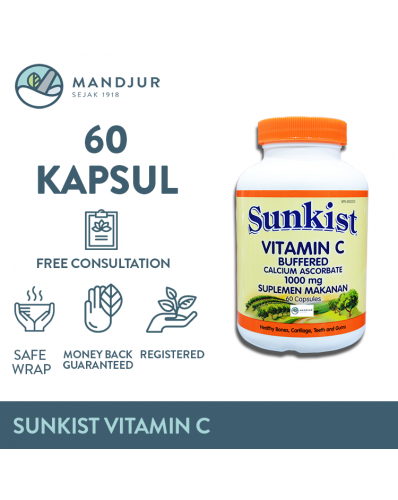 Sunkist Vitamin C Buffered 1000 mg