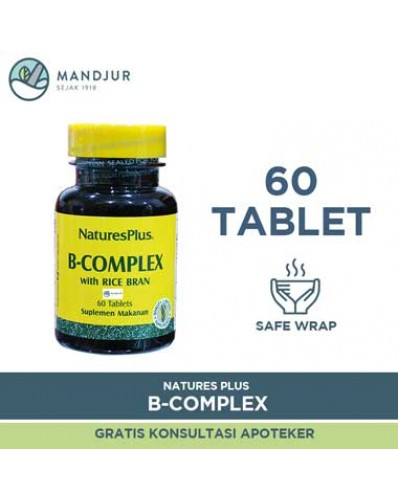 Natures Plus B Complex with Rice Bran 60 Tablet