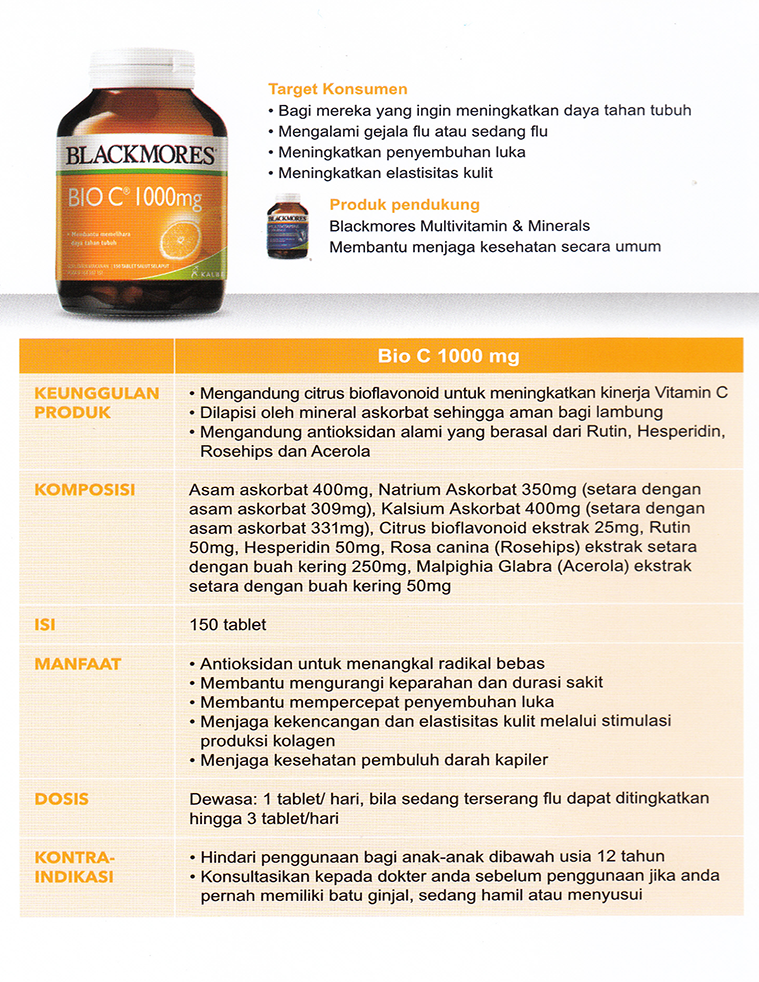 Blackmores Bio C 1000mg Isi 90 Tablet
